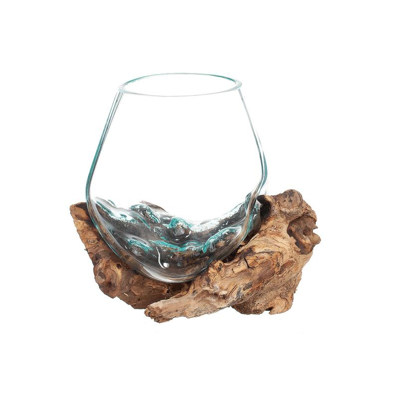 Dessa skålar varierar i storlek på både skål och rot! Låt inte fantasin stoppa dig, glasskålar på rot kan användas som  vas till en låg växt, dekoration och så vidare. Varje rot skiljer sig åt från varandra, vilket gör att glasskålarna är inte helt ident