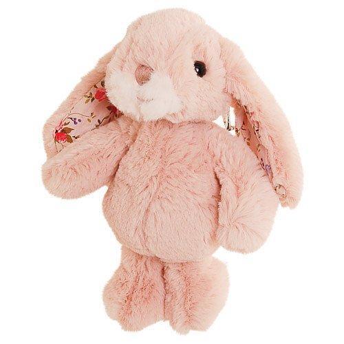 Rosa liten kanin med blommiga öron i härlig syntetpäls från Bukowski Design