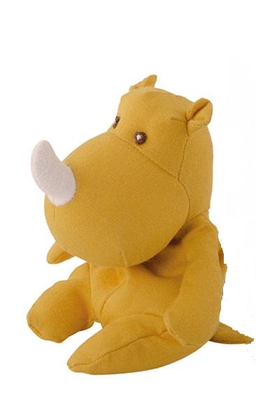 Gul noshörning i linnétyg från Bukowski Design