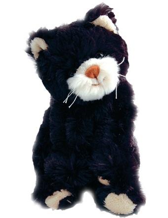 Katten bambo som är svart med rosa nos från Bukowski Design ca 25 cm hög.