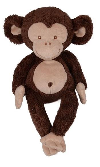 Söt och glad brun apa med beig mage från Bukowski Design