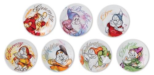 Disney assiett Trötter från snövit och de sju små dvärgarna. Det finns även i form av mugg.