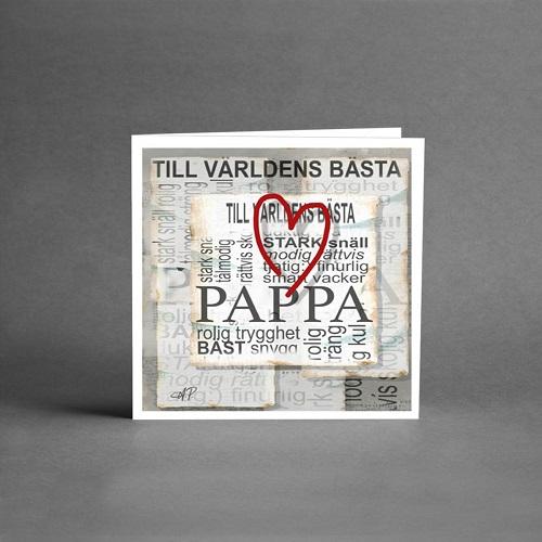 kort från Card Store med text till världens bästa pappa.