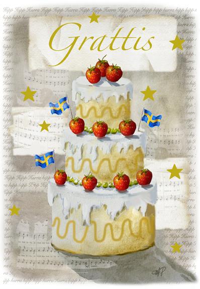 tårta grattis Gratulationskort / Kort: Deluxe kort  Grattis tårta från Card Store tårta grattis