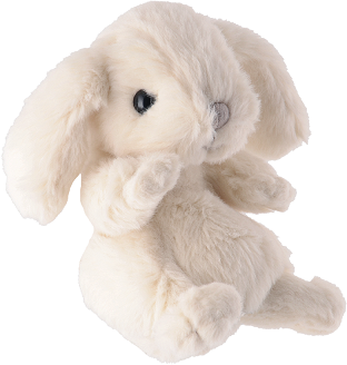 Baby kanini vit i storlek ca 15 cm från Bukowski Design